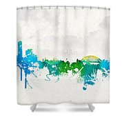 Summer Day In Sydney Australia Shower Curtain by Aged Pixel