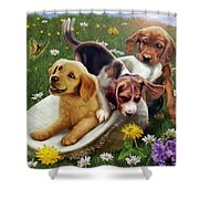 Summer Frolics Shower Curtain by Andrew Farley