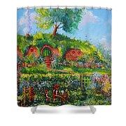Summer In The Shire Shower Curtain by Joe  Gilronan