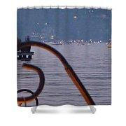 Summer Lake Twinkles Shower Curtain by Susan Garren