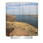 Summer On The Columbia River Shower Curtain by Carol Groenen
