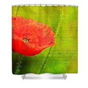 Summer Poppy Shower Curtain by Darren Fisher