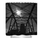 Summer Sun On Shelby Street Bridge Shower Curtain by Dan Sproul