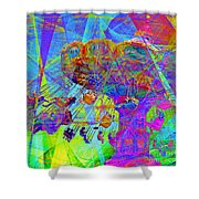 Summertime At Santa Cruz Beach Boardwalk 5D23905 square Shower Curtain by Wingsdomain Art and Photography