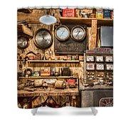 Sun Motor Tester Shower Curtain by Debra and Dave Vanderlaan