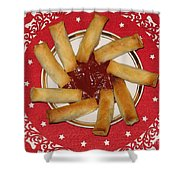Sun Of Spring Rolls Shower Curtain by Ausra Paulauskaite