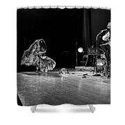 Sun Ra Dancer And Marshall Allen Shower Curtain by Lee  Santa