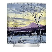 Sunday In Winter Shower Curtain by Lee Piper