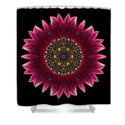 Sunflower Moulin Rouge I Flower Mandala Shower Curtain by David J Bookbinder