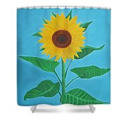 Sunflower Shower Curtain by Sven Fischer