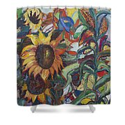 Sunflowers Shower Curtain by Avonelle Kelsey