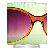 Sunglass - 5D20678 - v3 Shower Curtain by Wingsdomain Art and Photography