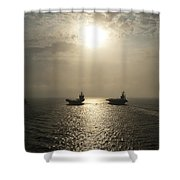 Sunrise At Sea Shower Curtain by Mountain Dreams