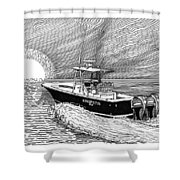 Sunrise Fishing Shower Curtain by Jack Pumphrey