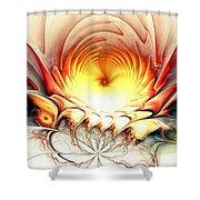 Sunrise In Neverland Shower Curtain by Anastasiya Malakhova