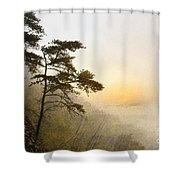 Sunrise In The Mist - D004200a-a Shower Curtain by Daniel Dempster
