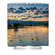 Sunrise On The North Payette River Shower Curtain by Robert Bales