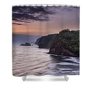 Sunrise Over Pololu Valley Shower Curtain by Eduard Moldoveanu