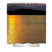 Sunset Asia  Shower Curtain by Adrian Evans