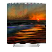 Sunset At Capo Beach In California Shower Curtain by Angela A Stanton