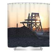 Sunset At Jones Beach Shower Curtain by John Telfer