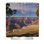 Sunset At The Grand Canyon's Hopi Point Shower Curtain by Alex Cassels