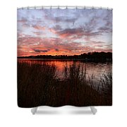 Sunset Bliss Shower Curtain by Lourry Legarde
