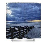 Sunset Boardwalk Shower Curtain by Michael Thomas