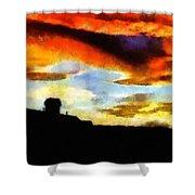 Sunset Colours Shower Curtain by Ayse Deniz