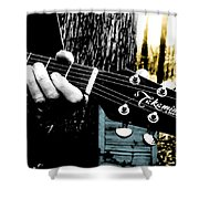 Sunset Country Pickin Shower Curtain by Kristie  Bonnewell