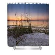 Sunset Dunes Shower Curtain by Debra and Dave Vanderlaan