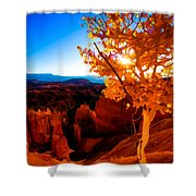 Sunset Fall Shower Curtain by Chad Dutson