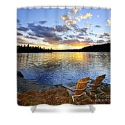 Sunset In Algonquin Park Shower Curtain by Elena Elisseeva