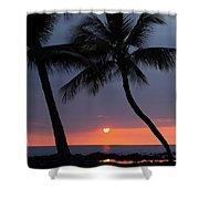Sunset In Hawaii Shower Curtain by Athala Carole Bruckner