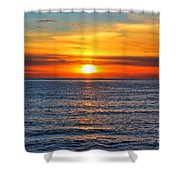 Sunset In San Clemente Shower Curtain by Mariola Bitner