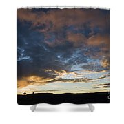 Sunset In Utah Shower Curtain by Delphimages Photo Creations