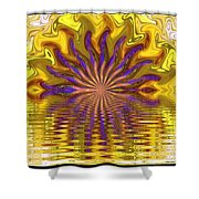 Sunset Of Sorts Shower Curtain by Elizabeth McTaggart