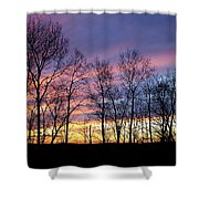 Sunset Of The Century Shower Curtain by Christina Rollo