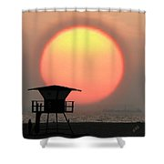 Sunset On The Beach Shower Curtain by Ben and Raisa Gertsberg