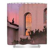 Sunset On Windows Shower Curtain by Augusta Stylianou