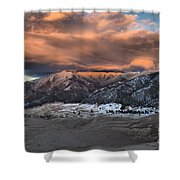 Sunset Over The Dunes Shower Curtain by Adam Jewell