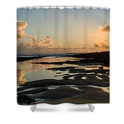 Sunset Over The Ocean IIi Shower Curtain by Marco Oliveira