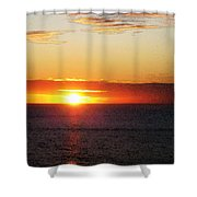 Sunset Painting - Orange Glow Shower Curtain by Sharon Cummings