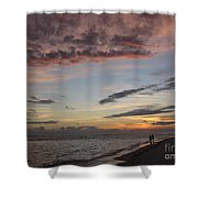 Sunset Stroll Shower Curtain by Elizabeth Carr