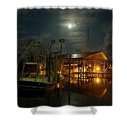 Super Moon At Nelsons Shower Curtain by Michael Thomas