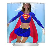 Super Nina Shower Curtain by Allan  Hughes