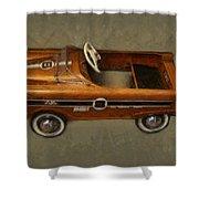 Super Sport Pedal Car Shower Curtain by Michelle Calkins