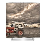 Superman Sepia Skies Shower Curtain by James BO  Insogna