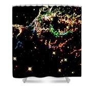 Supernova Remnant Cassiopeia A Shower Curtain by Amanda Struz