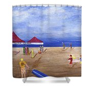 Surf Camp Shower Curtain by Jamie Frier